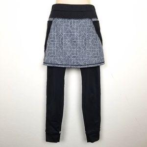 Athleta Fleece Lined Skirt Leggings